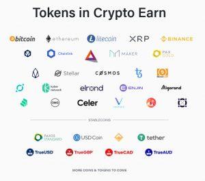 crypto visa card earn